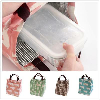 Thermal Insulated Lunch Box Tote Cooler Bag Bento Pouch Lunch Container Warmer