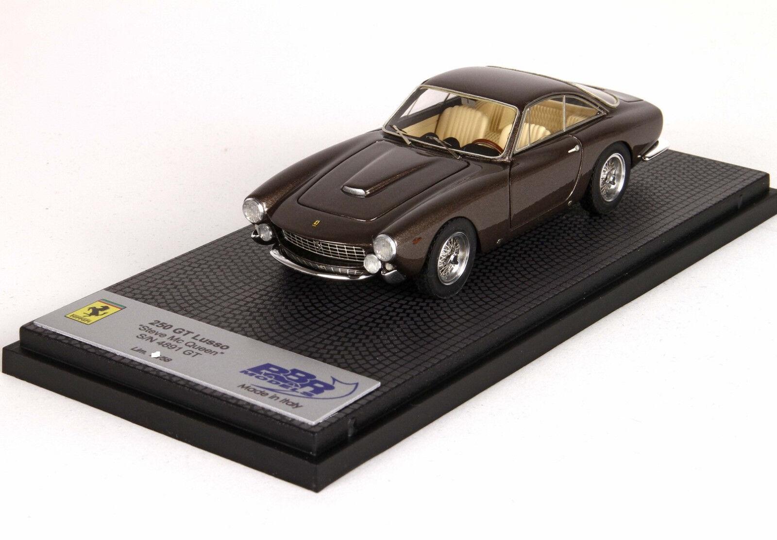 Ferrari 250 GT Lusso S N 4891 STEVE MC QUEEN 1 43 lim.ed. 58 pcs CAR05 BBR