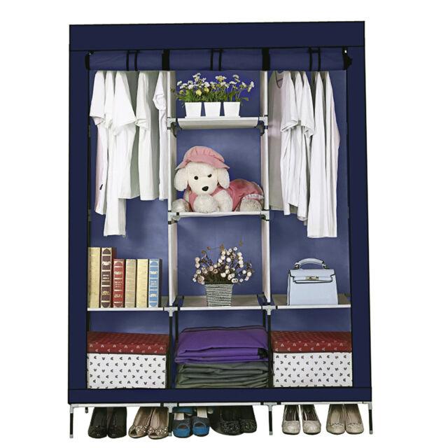 69 Heavy Duty Portable Closet Storage Organizer Wardrobe Clothes