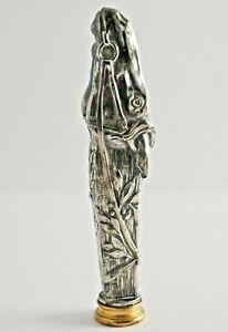 Large-Jugendstil-Petschaft-Siegellack-Stempel-Metal-Casting-034-Horse-Head-034