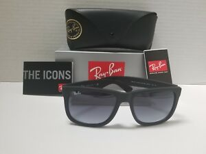 Ray-Ban RB4165 Justin 601 Sunglasses Matte Black Frame Grey Gradient ... 531ca6fa7e