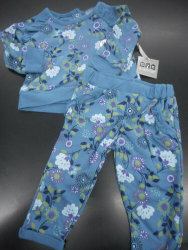 Infant Girls Miniville 2pc Long Sleeve Blue /& Green Sets Sizes 3Mth 24Mth.