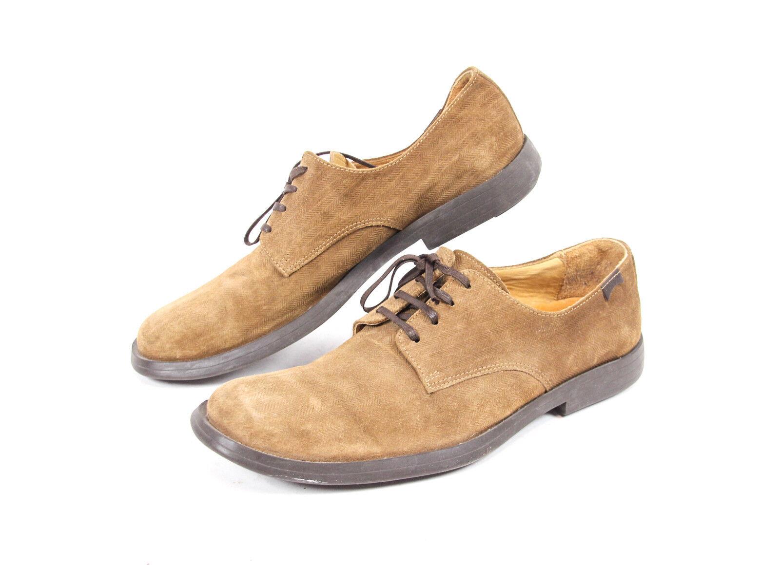 CAMPER 1910 Herren Leder Schuhe Gr 44 UK 9,5  braun Business Halbschuhe Schnürer