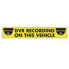Dvr Graba en este vehículo señal magnética 620mm X 100 Mm / Cctv Seguridad