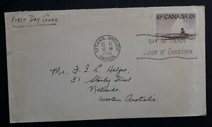 1955 Canada Eskimo Hunter FDC ties 10c stamp cancelled Ottawa
