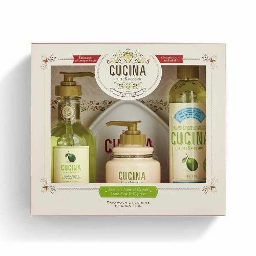 Cucina Deluxe Body Care Set holiday gift set Lime Zest and Cypress