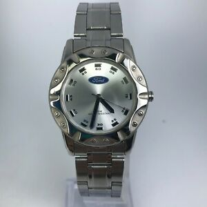 Ford-Mens-Motor-Company-124-Silver-Tone-Stainless-Steel-Watch