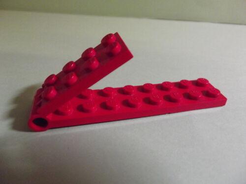 Rot 2 x 9 Lego--3324c01- Hinge Plate--Gelenk Klappscharnier- Komplett-