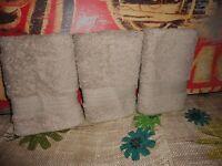 J C Penney Home Collection Linen (color (3) Washcloths 13 X 13