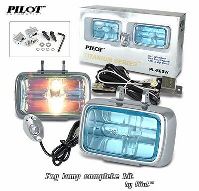 "2 4X4 2-3//8/"" OFF ROAD UNIVERSAL DRIVING LAMPS FOG LIGHTS SET KIT WIRING HARNESS"