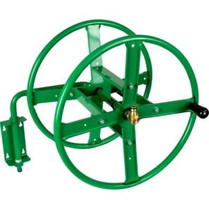 Image Is Loading Wall Mounted Metal Hose Reel 75m Garden Hose