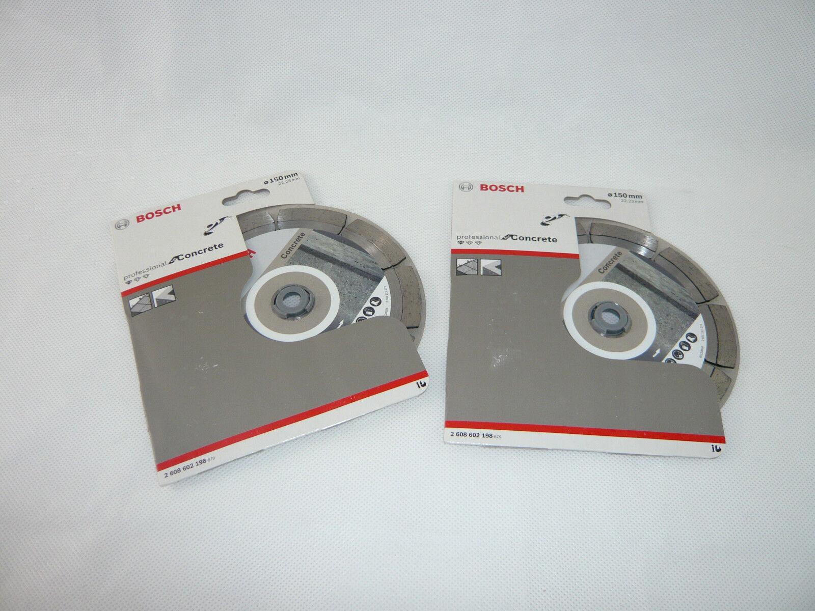 2x BOSCH 150mm Diamanttrennscheibe Standard for Concrete 2 608 602 198 GNF 35 CA