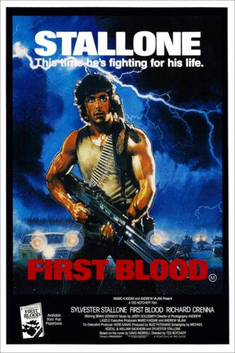 NEW RAMBO FIRST BLOOD VERSION 2 ORIGINAL CINEMA FILM MOVIE PRINT PREMIUM POSTER