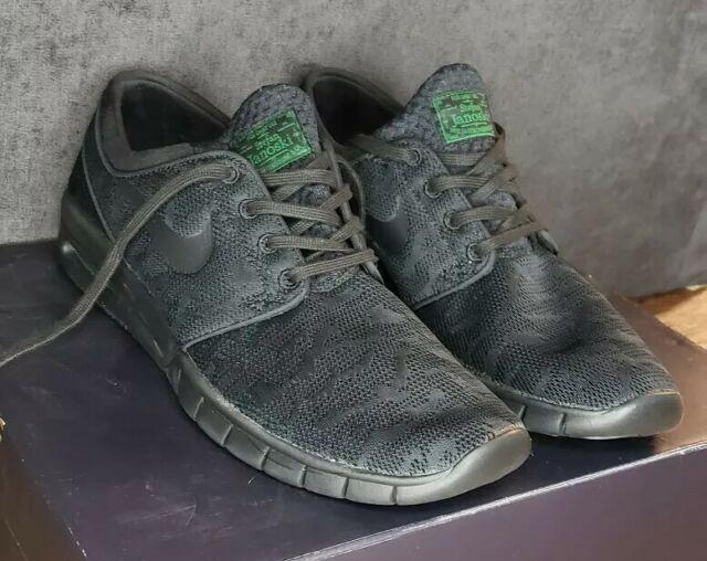 Nike Stefan Janoski Max SB Green Black Mens Skate Shoes [631303 003] Size 11.5