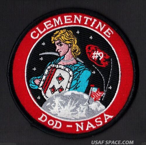 CLEMENTINE  DOD  NASA USAF CLASSIFIED SATELLITE SPACE MISSION LAUNCH PATCH