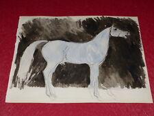[EQUITATION CHEVAUX HORSES] DESSIN ORIGINAL ANCIEN AQUARELLE water color (29)