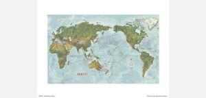 QANTAS-WORLD-ROUTE-MAP-POSTER-PRINT-1960s-RETRO-DESIGN-50-x-40-cm-20-034-x-16-034
