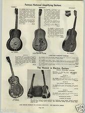 1938 PAPER AD Triolian Hawaiian Guitar Stella Electric Sovereign LaScala Gibson