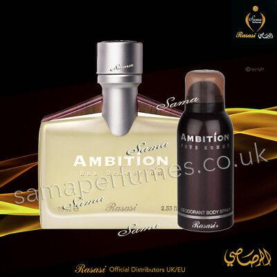Ambition Men+FREE Deo Edp150ML AromaticFloralMusk RASASI UK & EU Official Dist | eBay