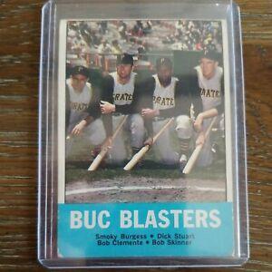 1963 Topps #18 BUC BLASTERS - CLEMENTE HOF - VG
