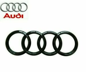 Audi-Gloss-Black-Rear-Back-Boot-Badge-Rings-A1-A3-A4-A5-A6-RS3-RS4-S3-S4-193mm