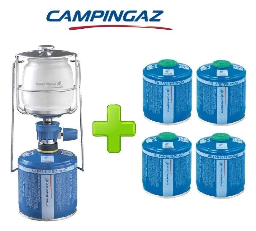 LAMPADA LANTERNA GAS LUMOGAZ PLUS CAMPINGAZ 80 WATT  4 PEZZI CARTUCCIA CV300