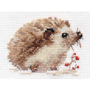 Counted-Cross-Stitch-Kit-ALISA-Hedgehog