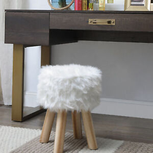 Excellent Details About Mercer41 Duncan Chic Faux Fur Vanity Stool Ncnpc Chair Design For Home Ncnpcorg
