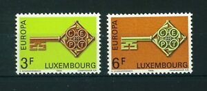 Luxembourg-1968-Europa-full-set-of-stamps-MNH-Sg-821-822