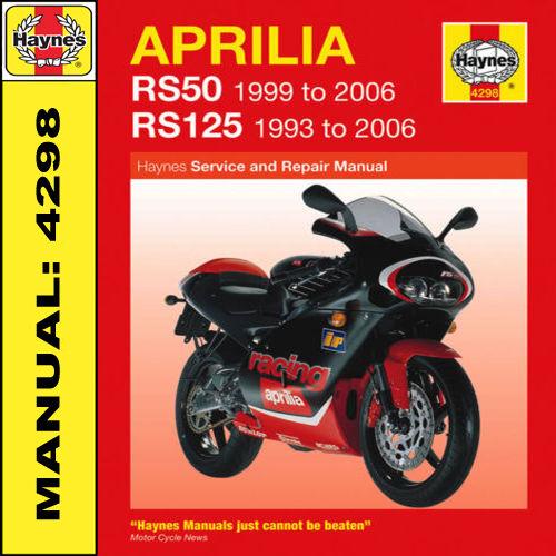 haynes aprilia rs50 rs125 workshop manual 4298 ebay rh ebay co uk aprilia rs 50 workshop manual aprilia sr 50 2000 service manual