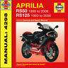 Haynes Aprilia RS50 RS125 Workshop Manual 4298 Brand NEW