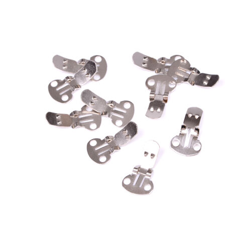 10-20Pcs Blank Stainless Steel Shoe Clips Clip on Findings for Wedding Craft ES