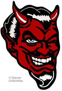 Red devil demon Satan Lucifer embroidered applique iron-on patch S-1535