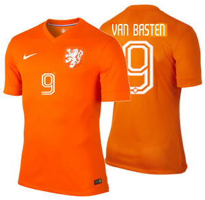 best service bb347 fbb58 Details about NIKE MARCO VAN BASTEN NETHERLANDS AUTHENTIC HOME JERSEY WORLD  CUP 2014 HOLLAND