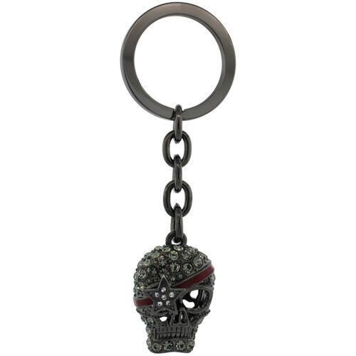 Key Holder w// Brilliant Cut Crystals Key Ring Pirate Skull Key Chain