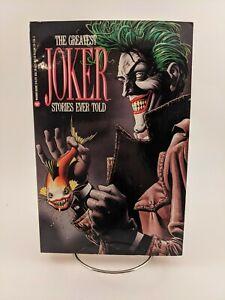 Greatest Joker Stories Ever Told (1989, Warner Books), TPB, 1st Print