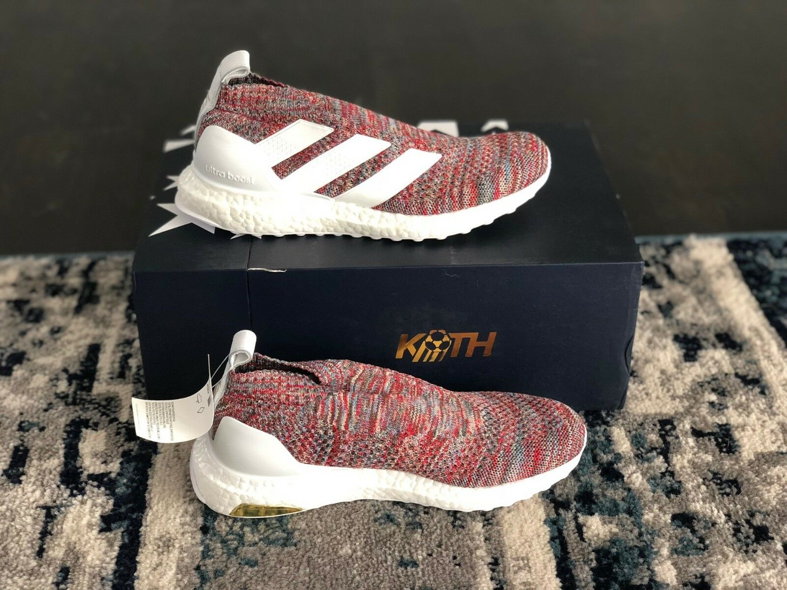 ADIDAS X KITH COPA ACE 16+ PURECONTROL MULTICOLOR ASPEN ULTRA BOOST DS SZ 8
