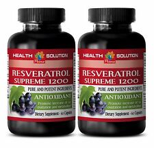 Metabolism Booster RESVERATROL SUPREME 1200 ANTIOXIDANT promoting brain health 2