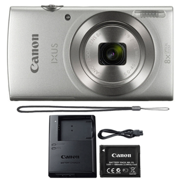 Canon Ixus 185 Elph 180 20mp 8x Optical Zoom Digital Camera Silver For Sale Online Ebay