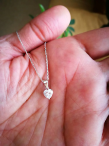 1Ct-Diamond-Solitaire-Heart-Shape-Pendant-Necklace-Chain-14K-White-Gold-Over