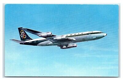 Olympic Airways Boeing 707-320 Super Fan Jet Aeroplane Rare Greece Postcard