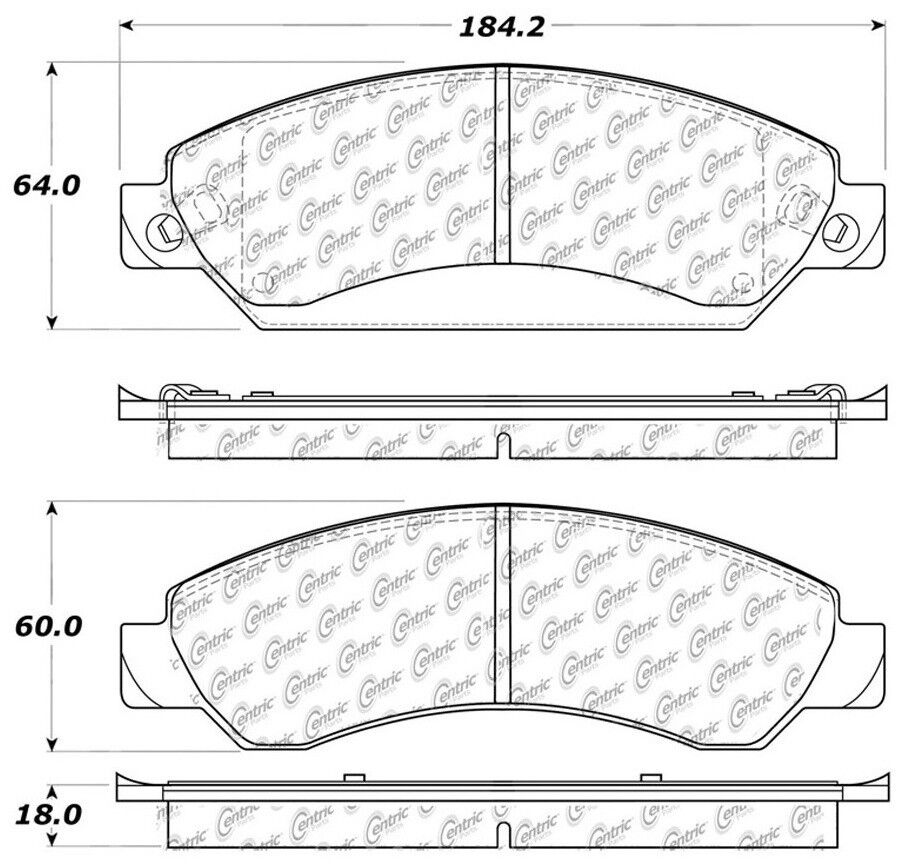 Centric Parts 301.10920 Front Premium Ceramic Brake Pads