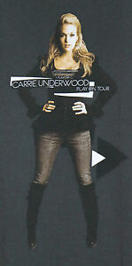 Carrie-Underwood-Play-On-Tour-2010-Concert-T-Shirt-Medium-Country-Music