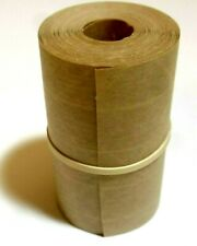25 Foot Reinforced Paper Tape Roll Gummed Brown Kraft Shipping Packaging Sealing