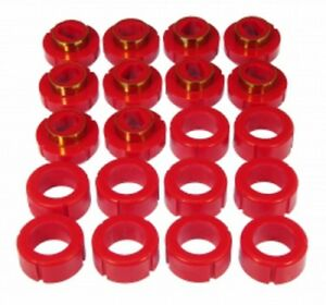 Prothane 7-136 Red Body and Cab Mount Bushing Kit 20 Piece
