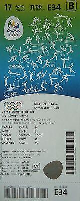 Sports Memorabilia Rio 2016 Precise Ticket A 17/8/2016 Olympic Games Rio Gymnastics Gala # E34 Drip-Dry