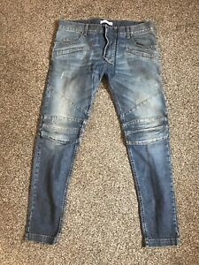 Details about Pierre BALMAIN MENS BIKER JEANS SIZE 34 100% AUTHENTIC COST OVER £900