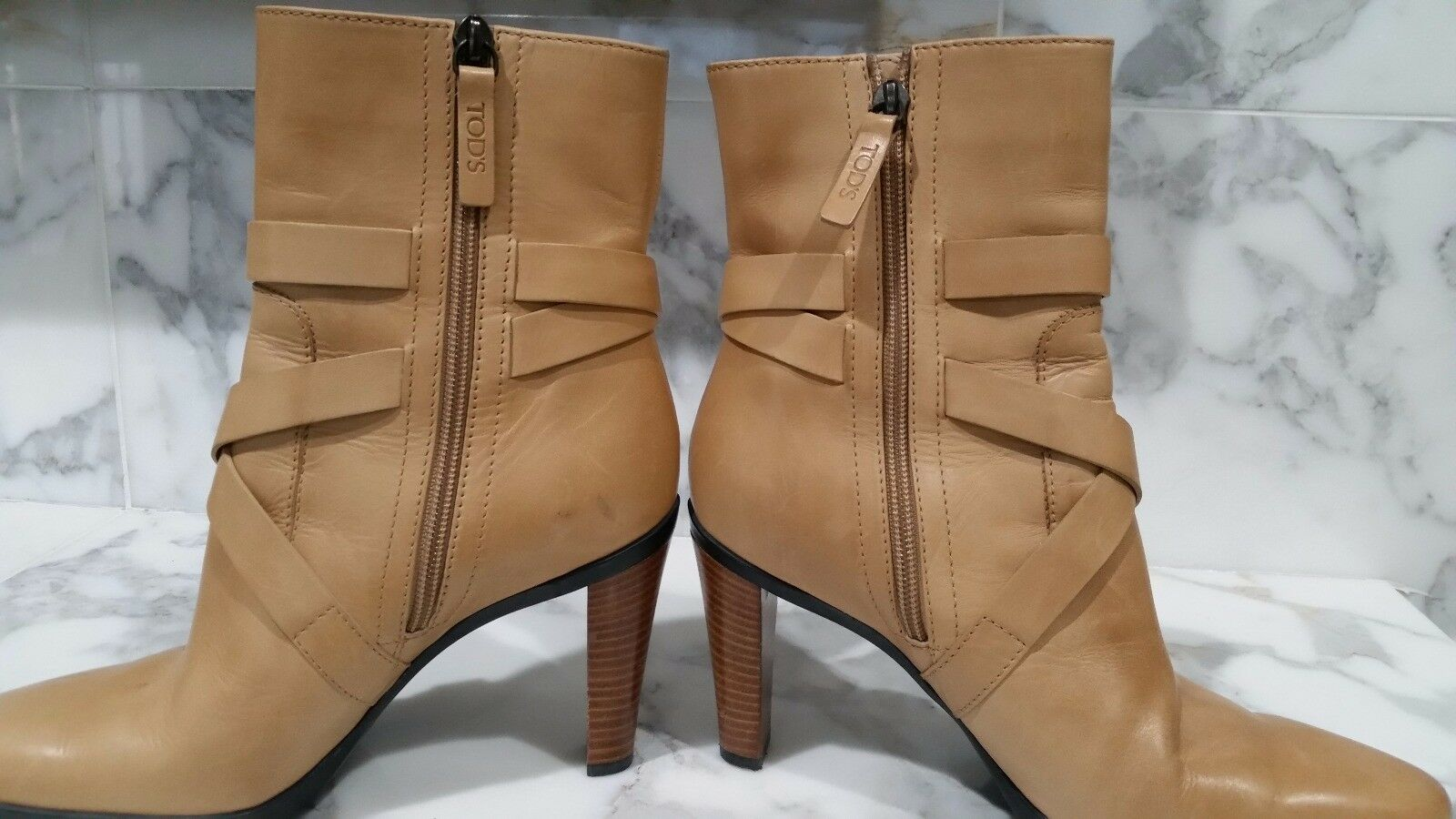 Gorgeous Tan Tod's Boots- Sz 8 Beautiful Leather!