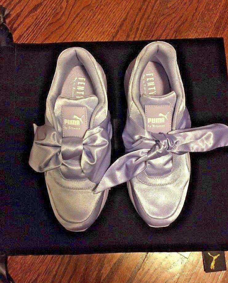 New PUMA Size 8 FENTY X RIHANNA SATIN BOW Lavender Walking shoes Sneakers