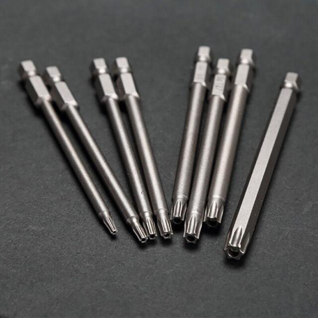 8 Pcs Torx Screwdriver Bits Tool Set Hex Security Magnetic Head 100MM Extra Long